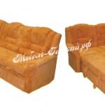 рыжий угловой диван