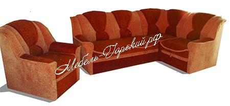 угловой диван + 1 кресло мини