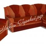 угловой диван + 1 кресло на пружинном блоке