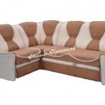угловой диван коричнево-белый