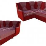 угловой диван красный