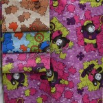 Детский флок 29 (коричневый, голубой, розовый)
